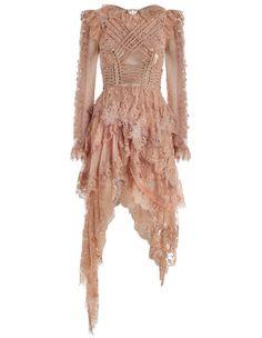 Zimmermann Bowerbird Romance Mini Dress. Product Image.