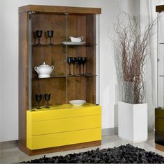 Contemporary Display Cabinets come in all shapes and sizes, in this article we're going to show you twelve ideas that suit any type of interior design. Media Furniture, Cabinet Furniture, Furniture Design, Wall Storage, Tall Cabinet Storage, Storage Ideas, Shabby Chic Mirror, Pooja Rooms, Decoration