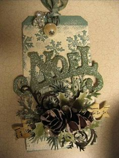 TIm Holtz Christmas Tags - Day 1 by seraines - Cards and Paper Crafts at Splitcoaststampers