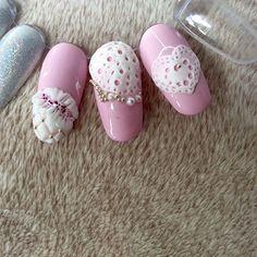 #lacegel #crystalnails #crystalnailsitalia #pink #royalgel #nails #nailart