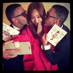G.NA receives kisses from the designers behind DSQUARED2
