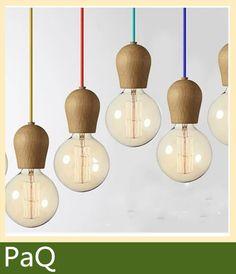 luce del pendente dellannata legno di quercia lampada 100 cm filo di ...