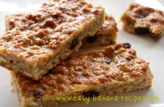 This homemade energy bar recipes is very quick and easy to make, and has added bananas and raisins to give that extra flavor and natural sweetness to the bars. Makes a great snack.