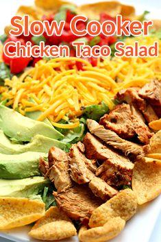 CROCKPOT CHICKEN!! So easy, fast and tastes good on salads, burritos, enchiladas, tacos!!! #crockpot Instant Pot Pressure Cooker, Pressure Cooker Recipes, Pressure Cooking, Slow Cooking, Instant Crock Pot, Slow Cooker Chicken Tacos, Tacos Crockpot, Crockpot Recipes, Easy One Pot Meals