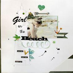 PapErHeArt: Girl on the Beach # scrapbook Scrapbook Layouts, Scrapbooking, Silhouette America, Crate Paper, Lany, Beach, The Beach, Scrapbooking Layouts, Scrapbook