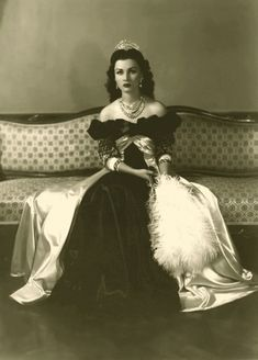 Official Imperial photo of Her Sultanic Highness Princess Fawzia bint Fuad of Egypt during her reign as Queen of Iran from 1939 to 1948