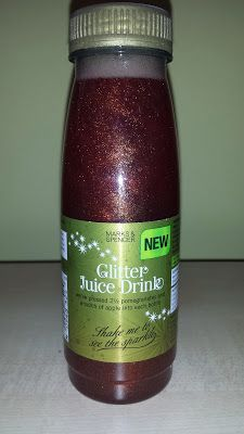 Glitter Juice drink at M&S - pomegranates, apple, aronia/chokeberries and edible glitter Juice Drinks, Cold Drinks, Edible Glitter, Drink Bottles, Pomegranates, Apple, Cafes, Apple Fruit, Cool Drinks