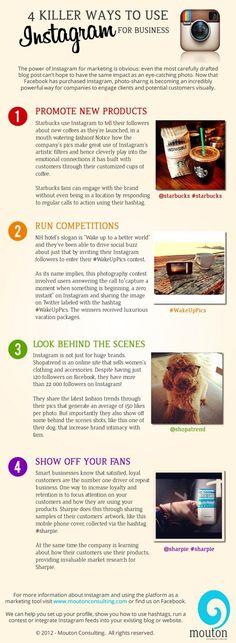 "SOCIAL MEDIA - ""4 Killer Ways to Use Instagram for Business""."