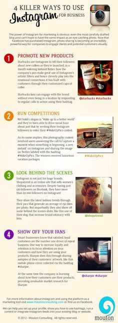 4 Killer Ways to Use #Instagram for Business cc @anlsm30 #rrss