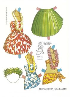 1984. TAHITIAN and HAWAIIAN DANCERS Paper Doll Book by Bernard Atkins for Great Creations. Printed in Hawaii. 5 of 6