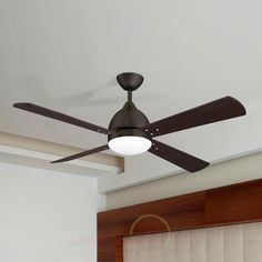 BORNEO - modern ceiling fan in brown 6026307 - can use LED bulbs and comes with remote