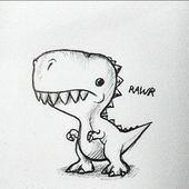best cute drawings, anime drawings, figure dirawing of techniques, great examples of pencil drawings. Pencil Art Drawings, Art Drawings Sketches, Doodle Drawings, Cartoon Drawings, Cartoon Art, Cute Drawings, Drawings For Boys, Doodle Art, Dinosaur Drawing