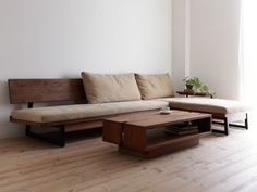 Living Room Wood Sofa Interiors 37 Ideas For 2019 Sofa Furniture, Furniture Design, Modern Wooden Furniture, Wooden Living Room Furniture, Glass Furniture, Trendy Furniture, Furniture Buyers, Furniture Vintage, Furniture Outlet