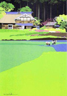 内田 正泰 作品 : 「勇気」との散歩道で 出会い
