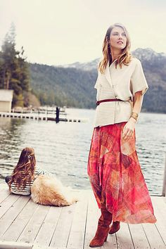 Fallen Sun Maxi Skirt - anthropologie.com