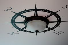 compass rose in ceiling