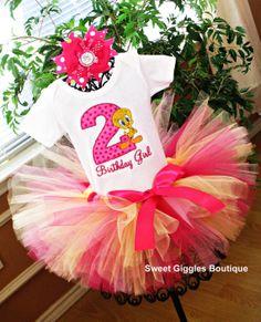 Tweety Bird Birthday Tutu Outfit  I Taut I by SweetBirthdayGiggles,