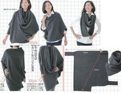 coser poncho simple y extraña