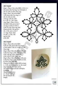 Christmas tree tatting pattern.