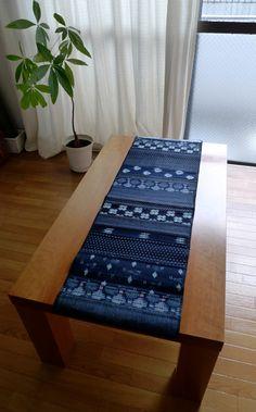 Vintage Indigo Patchwork Table Runner