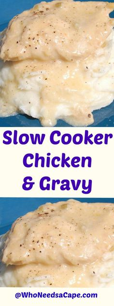 Slow Cooker Chicken & Gravy is a perfect meal for your freezer. Try out Slow Cooker Freezer Meals with this delish recipe! Crockpot Chicken And Gravy, Chicken Freezer Meals, Slow Cooker Freezer Meals, Crock Pot Slow Cooker, Freezer Cooking, Crock Pot Cooking, Slow Cooker Chicken, Slow Cooker Recipes, Crockpot Recipes