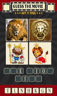#50. The 50th #topfree #app on the #android market is #4Pics1Movie! It gives you 4 images from a movie and you guess the title!