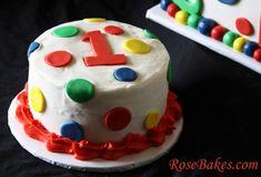 Primary Colors Smash Cake