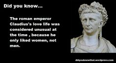 Curious Facts, Roman Emperor, Love Life, Did You Know, Nerdy, Statue, Random, Casual, Sculptures
