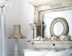 firplace mantel headboard | have seen a headboard in a fireplace mantel? If only fireplace mantels ...