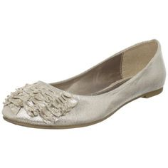 CL by Chinese Laundry Glamor Womens Ballet Flats Champagne Fabric  by Chinese Laundry