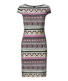 Take a look at this Stella Morgan: Pink & Black Aztec Bodycon Dress by Stella on today! That Look, Take That, Black Magic, Skort, Unique Fashion, Pjs, Aztec, Kids Outfits, Bodycon Dress