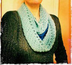 Ravelry: Sydney Infinity Scarf pattern by Jen E. Crochet Scarves, Crochet Hooks, Free Crochet, Knit Crochet, Crochet Patterns, Crochet Ideas, Scarf Patterns, Loom Knitting, Knitting Ideas