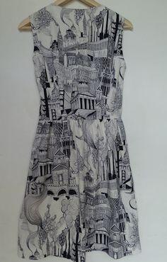 deer and doe patroon robe sureau Made by MaZella
