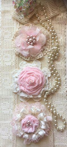Shabby Chic tela flor/de la boda decoración vendimia de la flor/flor de boda…