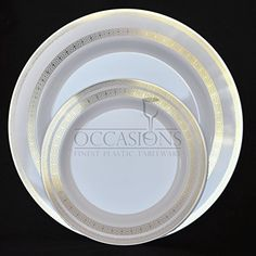 OCCASIONS-Disposable Plastic Plates Lace Collection White/gold  Choose size and & Amazon.com: Bulk Disposable Plastic Plates - Masterpiece Style ...