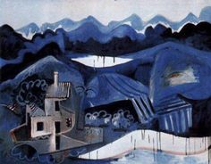 by Pablo Picasso, Landscape in Mougins (Fr) 1951p