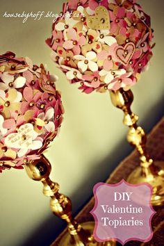 Valentine Week: DIY Valentine Topiaries - House by Hoff