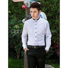 صلب - Langt Ærme - Skjorte ( Hvit , Bomull/Polyester ) Kinesisk Stil 2778692 2016 – kr.211