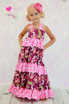 Download Tiered Maxi Dress Sewing Pattern - so pretty!!