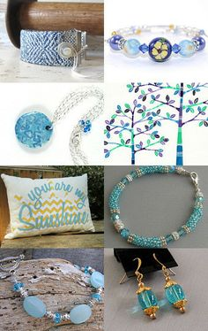 beautiful blues by Lenore Gil on Etsy--https://www.etsy.com/shop/CapWrapCreations