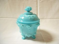 Vintage Turquoise Aqua Blue Opaline Glass by MonsieurBrocanteur,