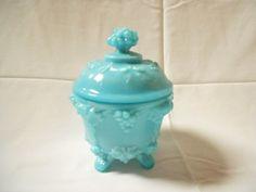 Vintage Turquoise Aqua Blue Opaline Glass by MonsieurBrocanteur,