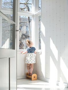 Katrina Tang Photography for Baby&Me magazine 2013 kids fashion. Girl looking out of the window, at home, spring, sunny #katrinatang #tangkatrina
