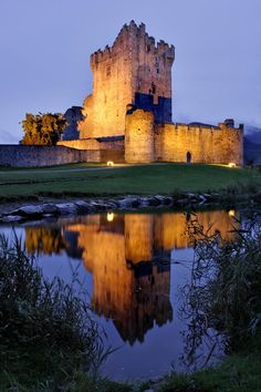 : Beautiful Ross Castle, Killarney National Park,  County Kerry, Ireland. Built in the late 15th Century.
