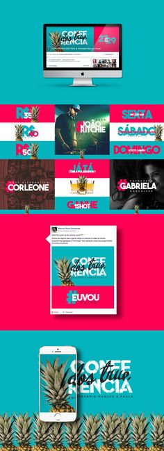 Conferência dos True // Social Media on Behance Social Media Ad, Social Media Banner, Social Media Template, Social Media Design, Massimo Vignelli, Branding, Mise En Page Web, Web Design, Logo Design