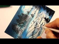 ▶ Stampscapes 101: Video 101. Moon Over the Snowy Brook. - YouTube