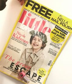 FREE Miss Nella with every @littlelondonmagazine copy!  #missnella #childrennailpolish #safe #nontoxic #littlelondon #freegift
