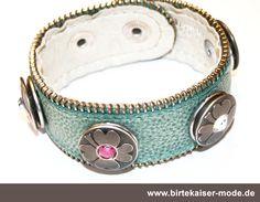Babouche Lederarmband mit Druckknöpfen  Sie haben hier die Möglichkeit ein fertig zusammengestelltes Armband mit Chunks zu kaufen. Alle Kombinationen gibt es hier: http://birtekaiser-mode.de/de/cat/index/sCategory/57