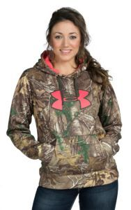 Under Armour Women's Realtree Xtra Camo with Pink Logo Fleece Hoody   #RealtreeXtra