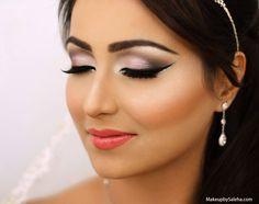 Soft eye makeup by saleha abbasi